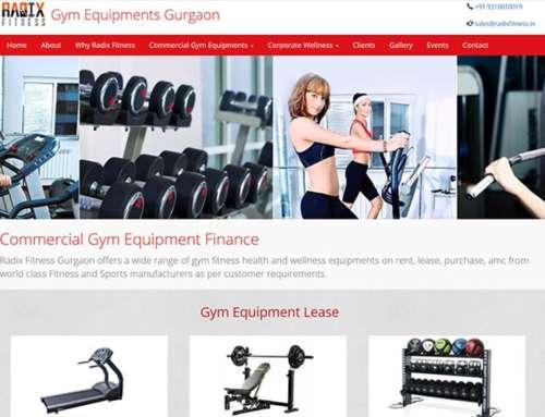 Gym Equipment's Gurugram Website Development