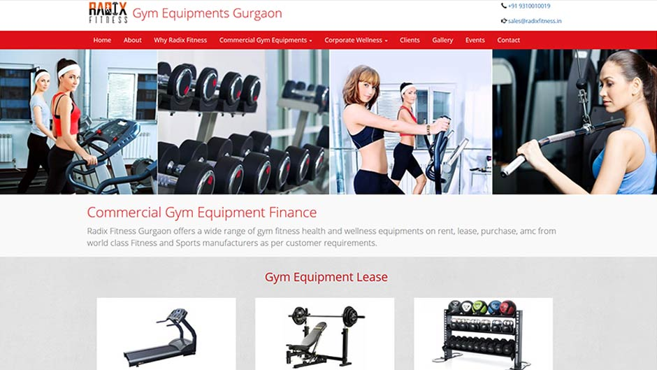 Gym Equipment's Gurugram Website Development
